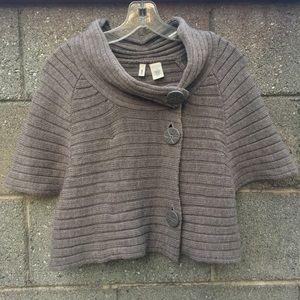 Anthropologie Moth Short Sleeve Wool Cadigan | M